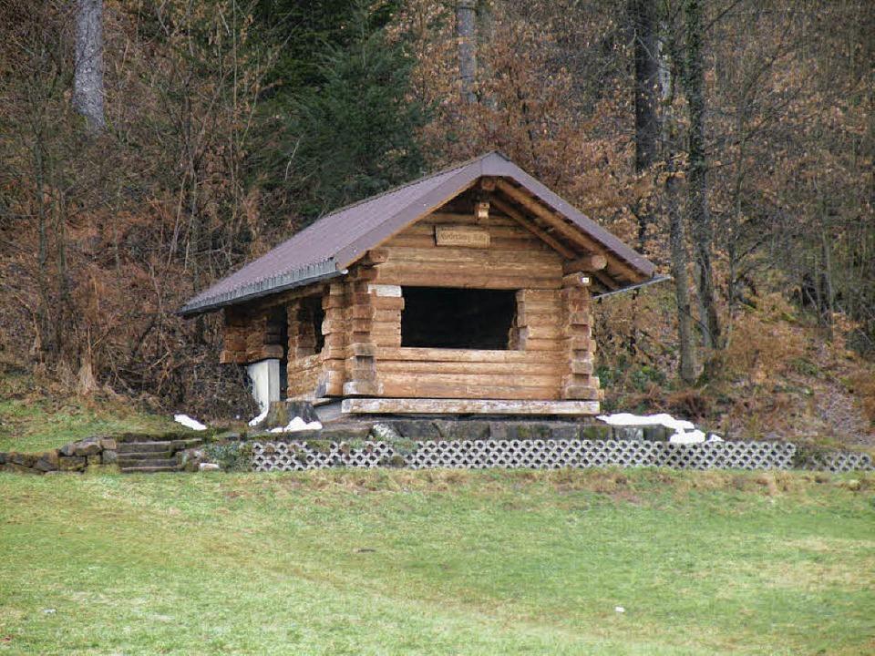 Die Niederberghütte am unteren Waldweg...  unterhalb des Hundessportplatzes.     | Foto: Wolfgang Roth