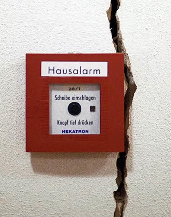 Riss in einer Hauswand in Staufen  | Foto: ddp
