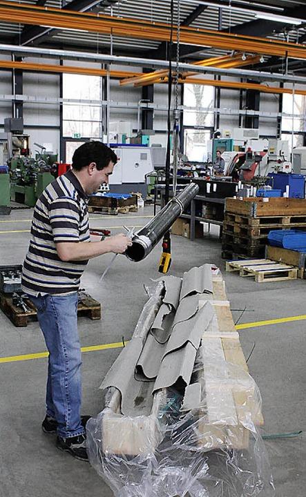 Produktions- und Entwicklungsabteilung...h kommt noch eine Photovoltaikanlage.     Foto: Barbara Schmidt