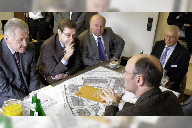 Minister besucht Handwerker
