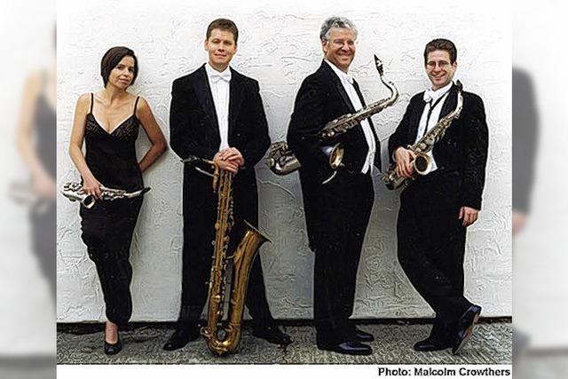 Quartett mit Saxophon