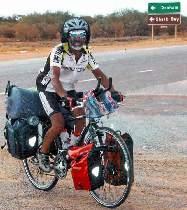 Ein Aborigine? Nein, es ist Armando Ba...  seinem  Weg   um  Australien herum.   | Foto: Privat