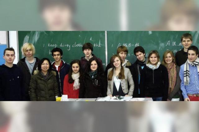 Deutsche Schüler sind die Attraktion