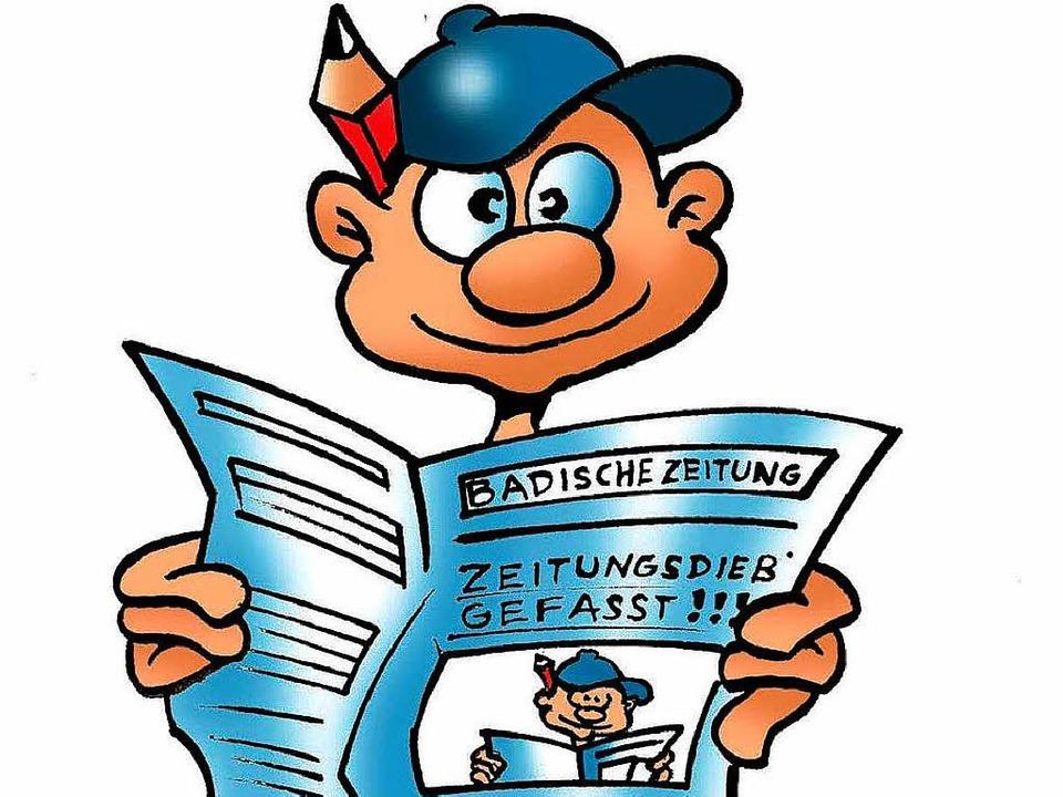 B. Zetti, das Maskottchen von Zisch, liest am liebsten die BZ.    Foto: Ferdinando Terelle
