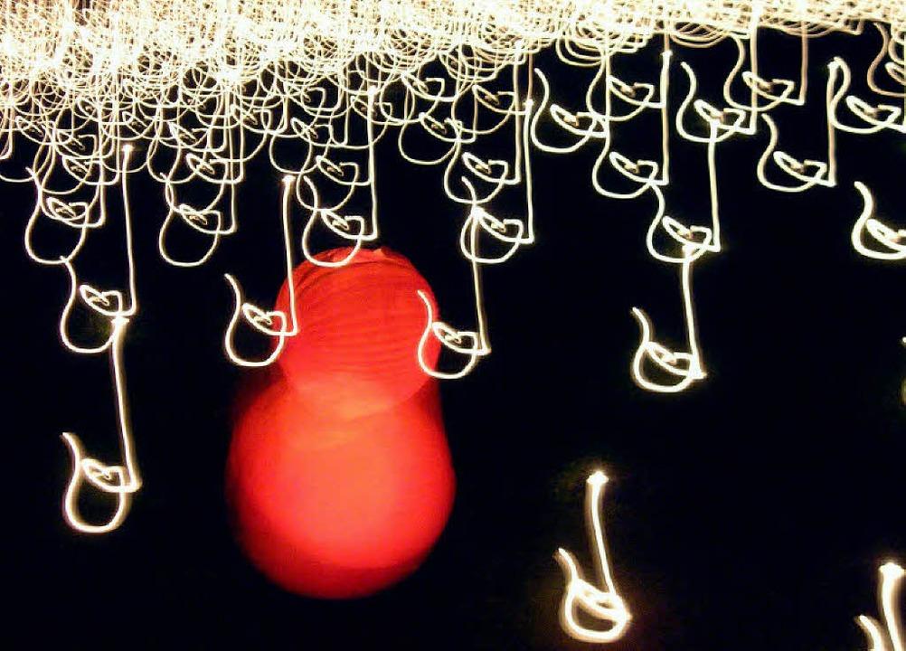 Eines der Werke, das der  Musiker und ...it besonderer Technik geschaffen hat.   | Foto: John Amann