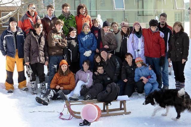 Manche standen erstmals auf Skiern