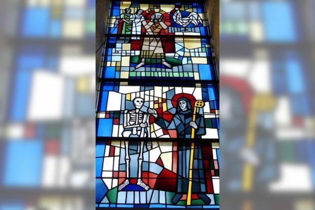Fridolin in der Glasmalerei