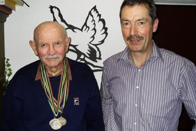 Kurt Kaiser erkämpfte drei Medaillen