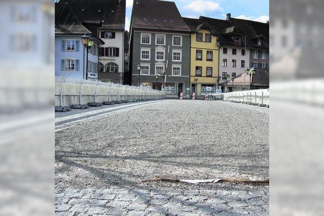 Laufenbrücke bleibt eine Baustelle