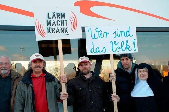 Rheintalstrecke: Protestfahrt nach Weil am Rhein