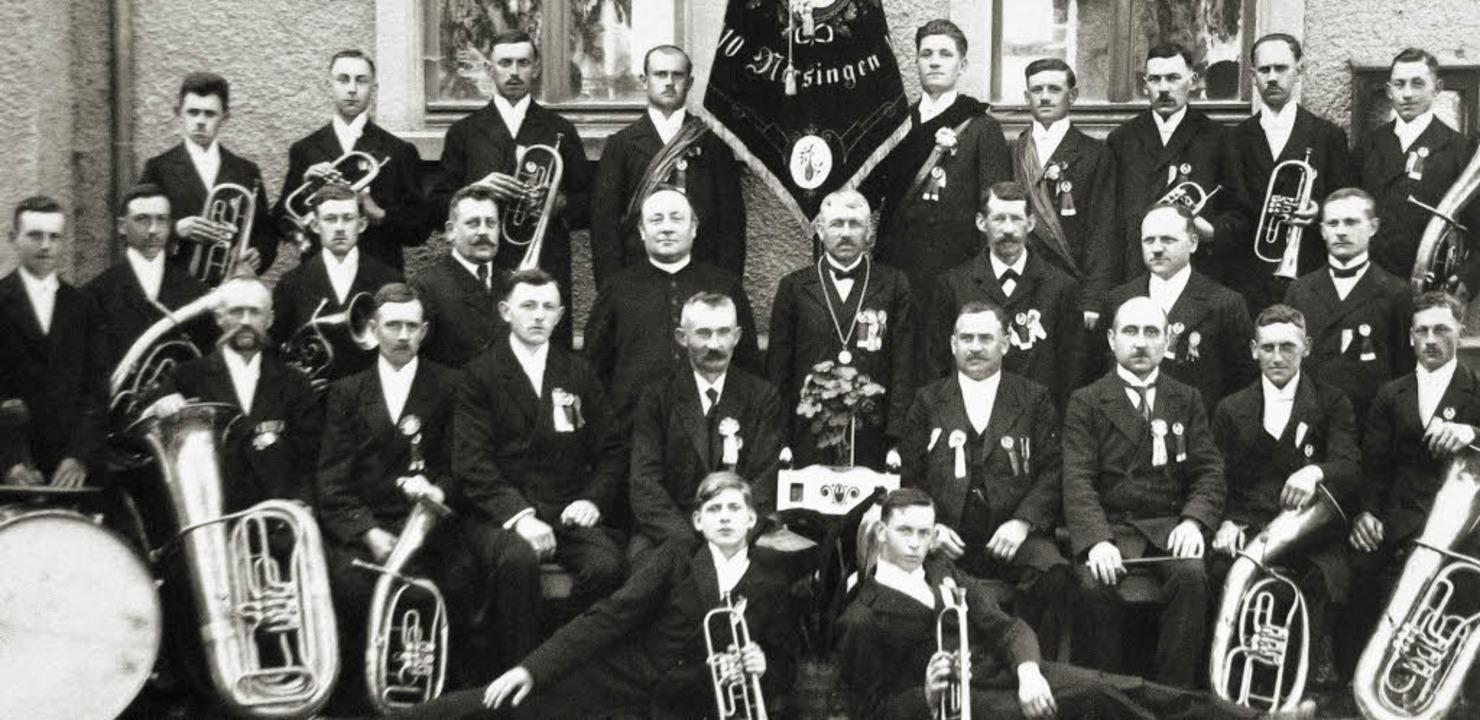 Reine Männersache war der Musikverein ...ziger Jahren des vorigen Jahrhunderts.  | Foto: privat