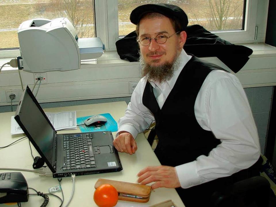 Professor Daniel Hammer bildet vom Her...r Unternehmens und IT-Sicherheit aus.     Foto: Röderer