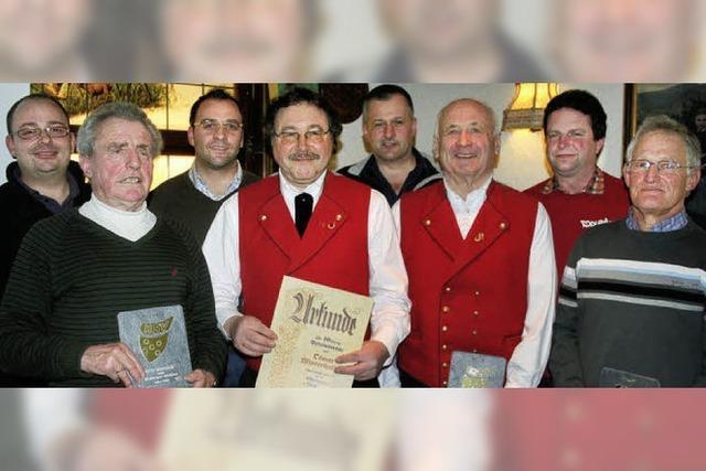 Quintett erhält eine HSV-Ehrentafel