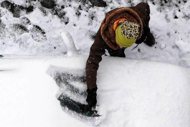 Neu-Schnee überrascht Autofahrer in der Ortenau