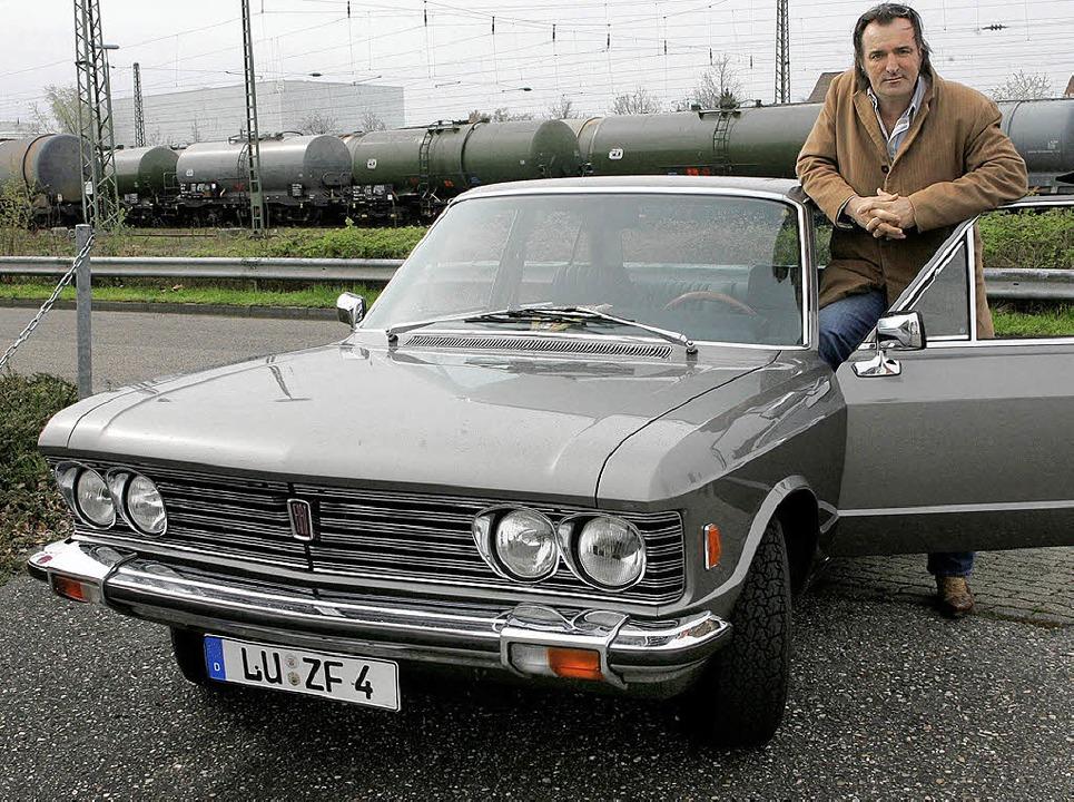 Mario Koppers Dienstwagen: Schauspiele...n Unikat wie der Schauspieler selbst.   | Foto: Uli Deck/dpa
