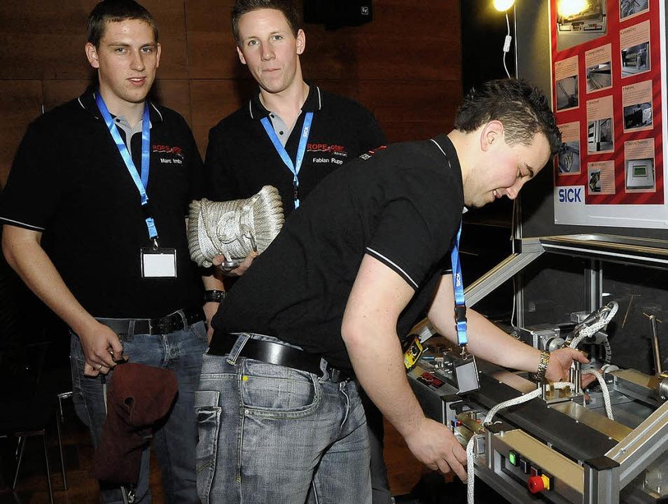Marc Imbery aus Bötzingen (von links),... auf dem Landeswettbewerb präsentieren  | Foto: Zimmermann-Duerkop