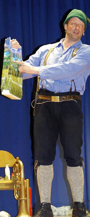 Da komm ich her: Martin Wangler als Fidelius Waldvogel   | Foto: Fotos: D.Beil