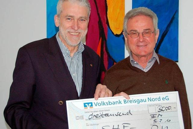 3000 Euro für den Hilfsfonds