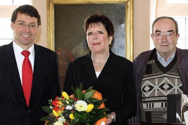 Helene Burg und Gerhard Ritter verabschiedet
