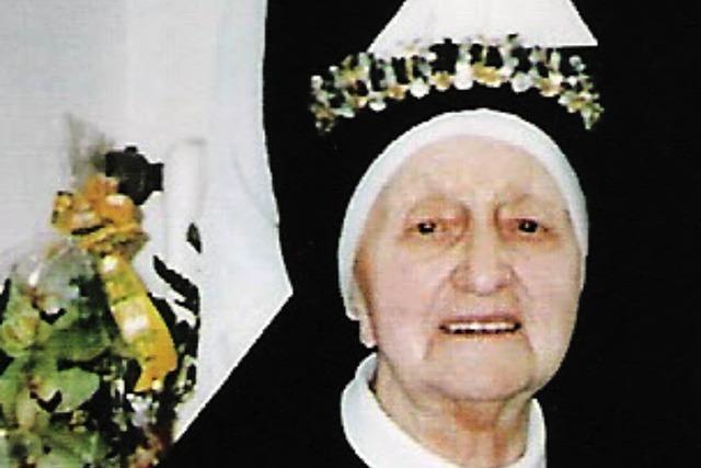 Glückwünsche aus Weil für Schwester Laurentia