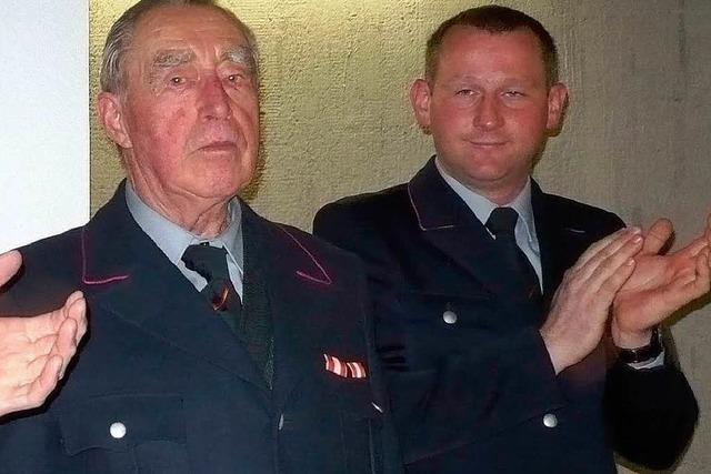 Seit 70 Jahren Feuerwehrmann