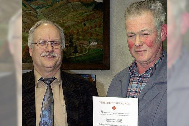 Manfred Ernst hat schon 75-mal Blut gespendet