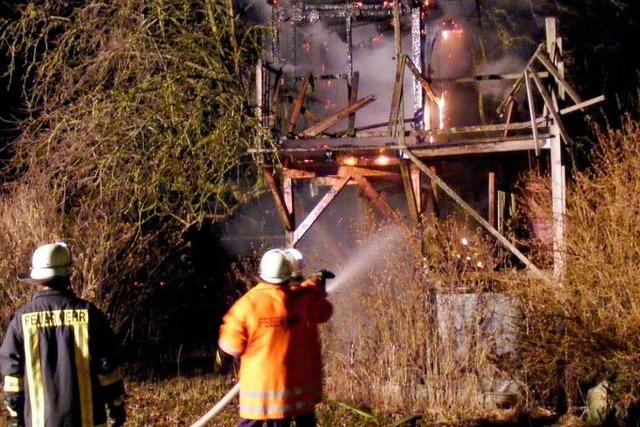 Feuerwehr kann brennendes Baumhaus nicht retten