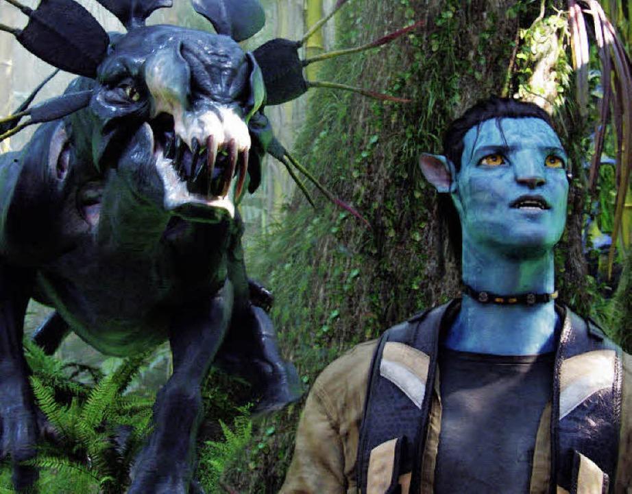 Und hinten naht der Thanator:   Jake Sully als Avatar (Filmszene)  | Foto: Promo/Fox
