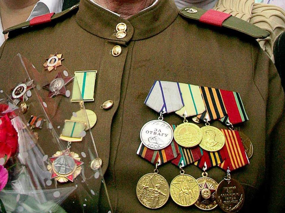 Begehrte Objekte: Orden russischer Kriegshelden.  | Foto: TATYANA MAKEYEVA