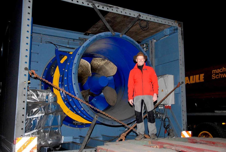 Die 130 Tonnen schwere Turbine.  | Foto: E-Werk Mitrtelbaden