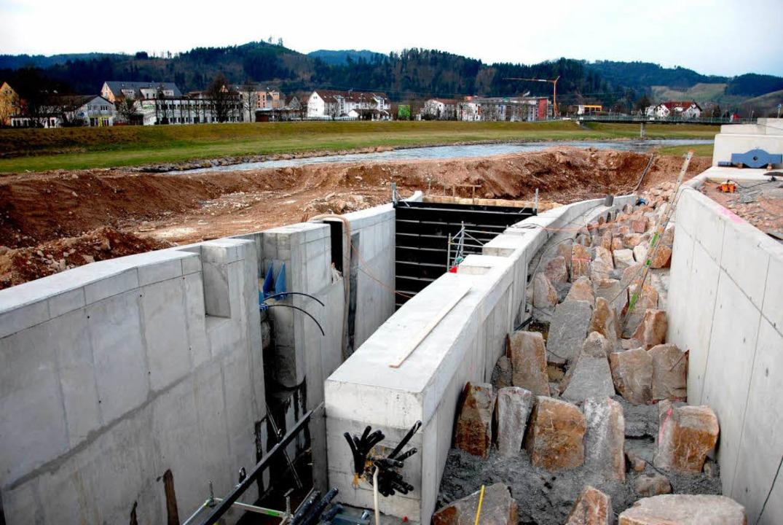 An der Baustelle.  | Foto: E-Werk Mitrtelbaden