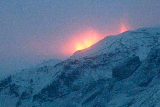 Vulkan auf Island bricht aus