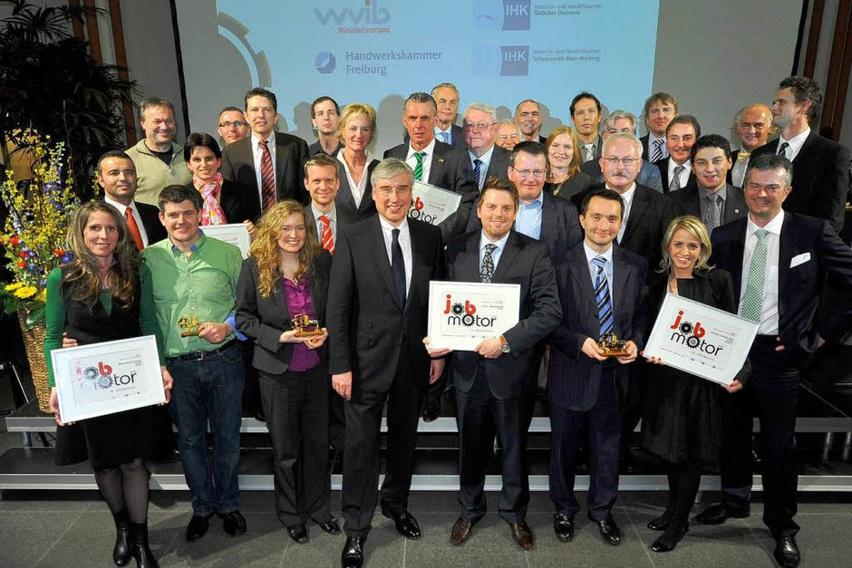Gruppenbild Sieger und Laudatoren (Foto: Thomas Kunz)
