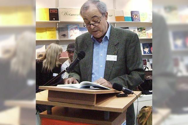 José Lozano las bei der Leipziger Buchmesse