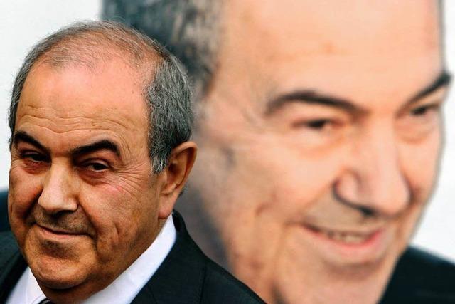 Allawi-Anhänger bejubeln Wahlsieg
