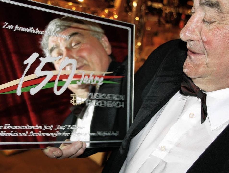 Wurde für 50-jährige Mitgliedschaft geehrt: Josef Schlachter  | Foto: Katja Mielcarek