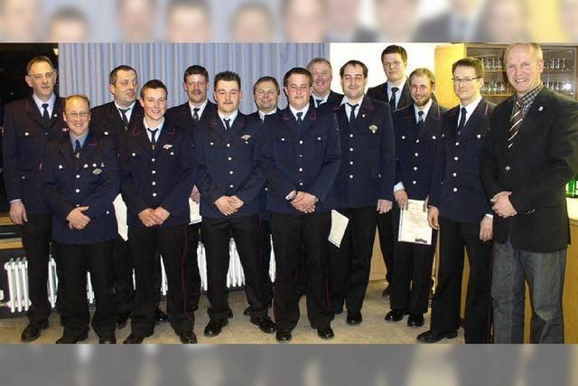 Beförderungen bei der Feuerwehr