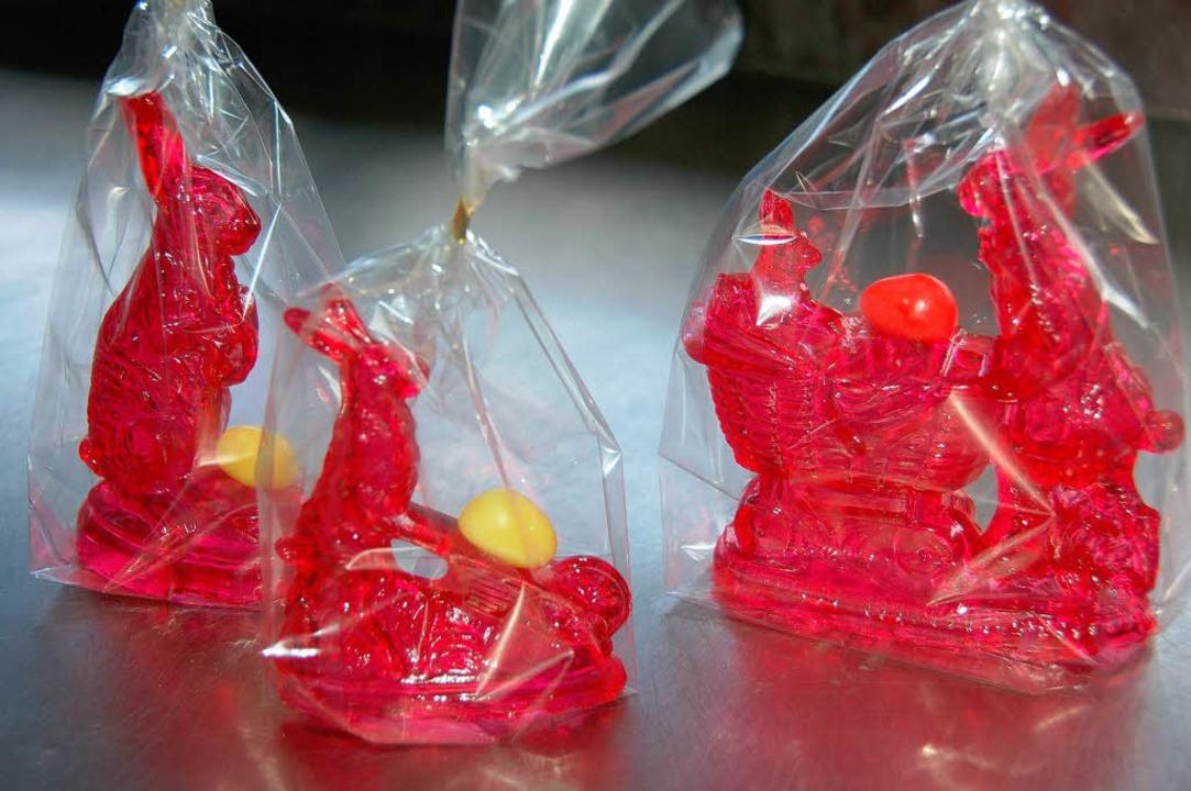 Besonders Kinder und Nostalgiker lieben die Zuckerhasen der Konditorei Pflanzl.  | Foto: Binner-schwarz