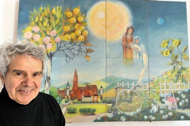 Altarbild von Klaus Brunner: Das Annastift im lebensprallen Park