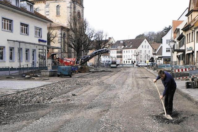 Altstadt bereits ohne Straßenbelag