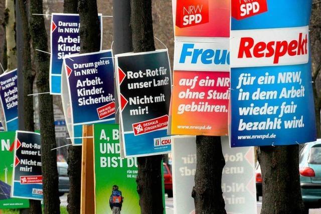 Parteien kämpfen in NRW um die Macht