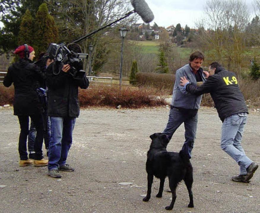 Was macht der Hund bei einem Angriff a...seine Reaktion in Bild und Ton  fest.   | Foto: Heidrun Simoneit
