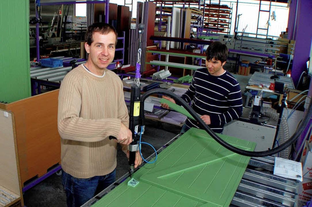 Mit einer neuen Idee zum Erfolg: Marco Trotter (links) und Patric Trotter.   | Foto: fotos: stefan merkle