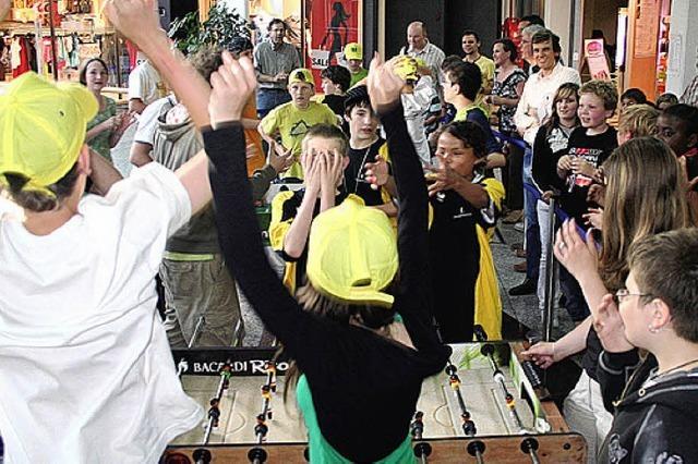 Kicker-Turnier für Schüler