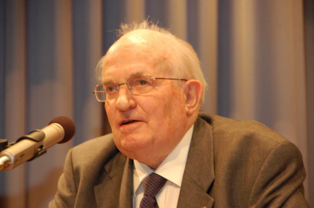 Egon Hugenschmidt, früherer Oberbürger... ist im Alter von 84 Jahren gestorben.    Foto: Nikolaus Trenz