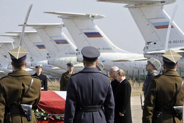 Polen und Russland in Trauer vereint