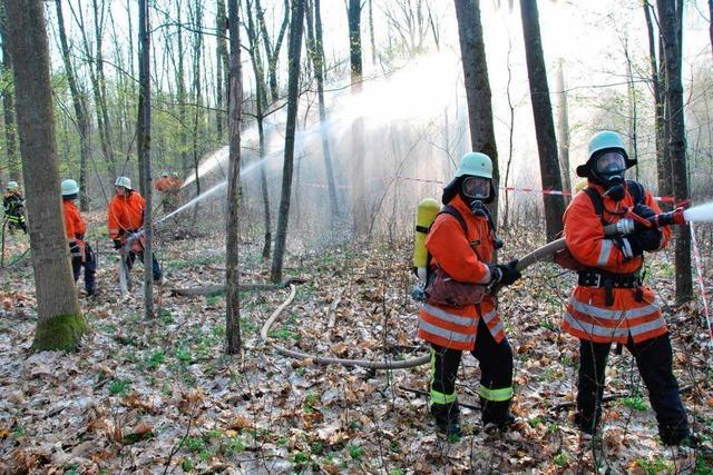 Die Feuerwehrübung hatte es in sich