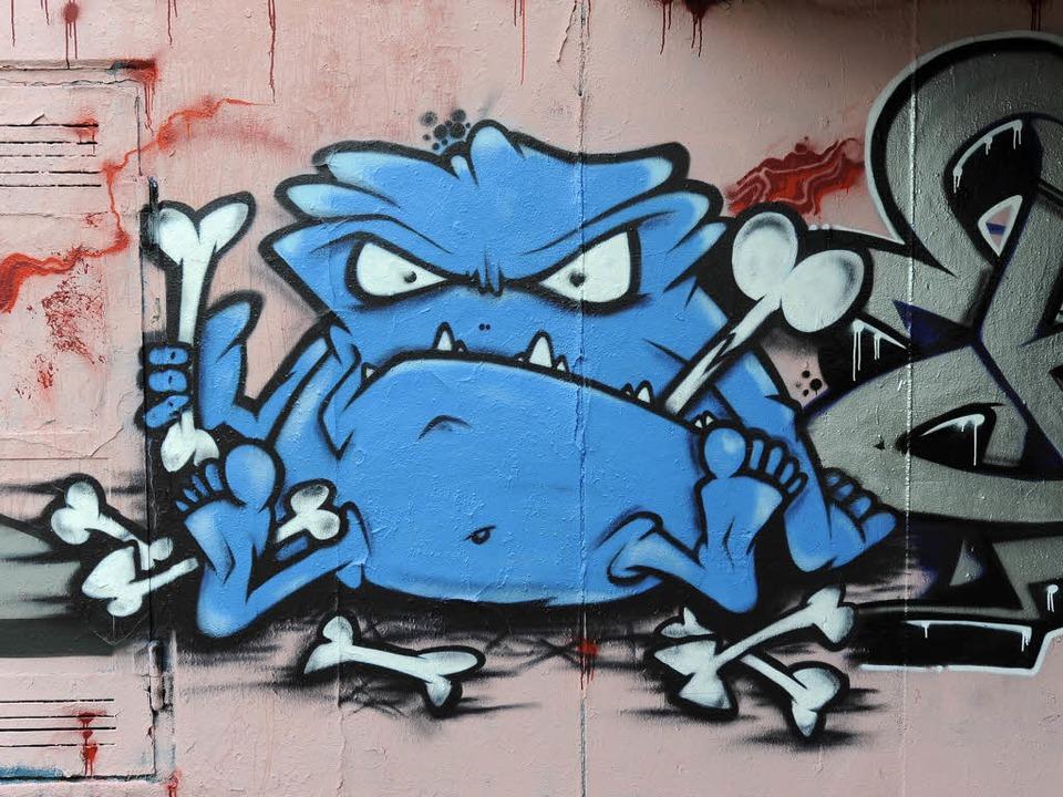 Graffiti in Freiburg: Sprühkunst in einer Unterführung der Schwarzwaldstraße.  | Foto: Ingo Schneider