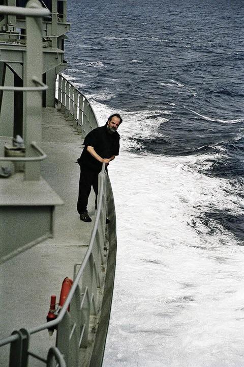 Zeit, um sich mit sich selbst zu besch...ssagier auf einem Frachtschiff genug.   | Foto: privat