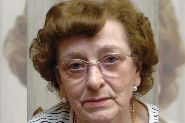 Gerda Bauer 80 Jahre alt